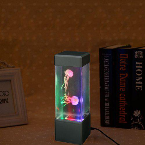 Led Mini Desktop Jellyfish Lamp With Color Changing Effects
