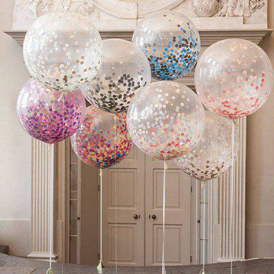 XM Creative Party Decorative Sequins Latex Balloon 5pcs