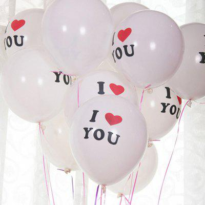 XM Thick Letter Party Decorative Latex Balloon 100pcs