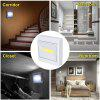Supli Mini Led Night Light Closet Lamp Battery Operated Wireless Wall for Under Kitchen Cabinets Energy-Saving - WHITE
