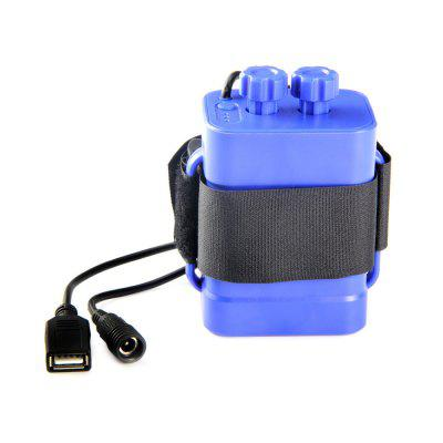 UltraFire 18650 6-Segment USB / DC Dual Interface Wasserdichtes Batteriefach