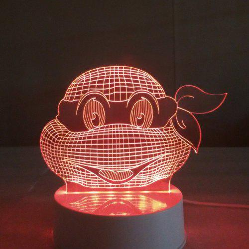 Frog with Cool Sunglass 3D LED Table Lamp Cartoon Night Light RGB Color Rechargeable Light For Kids