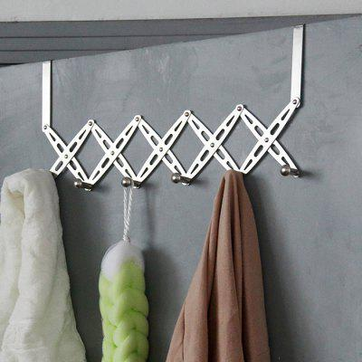 Stainless Steel Foldable Door Hanger Rack with 6 Hooks