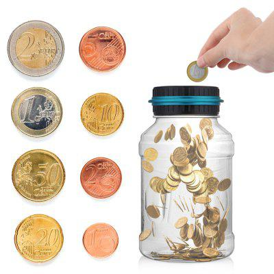 Digital Money Saving Jar LCD Display Coins Piggy Bank
