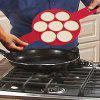 Non-stick Silicone Pancake Egg Ring Mold - RED