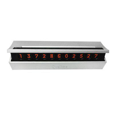 Quelima Temporary Parking Card Number Display for Cars
