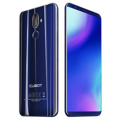 Coupon of CUBOT X18 Plus 4G Phablet - Black/Blue
