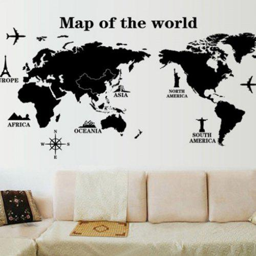 Decorative Wall Sticker Set World Map Mural Decals on vintage world map, ceramic world map, bedding world map, interior world map, simple world map, ornate world map, seasonal world map, jewelry world map, security world map, solar world map, repositionable world map, fluorescent world map, videogame world map, rounded world map, plants world map, miniature world map, illustration world map, mythological world map, nature world map, distressed world map,
