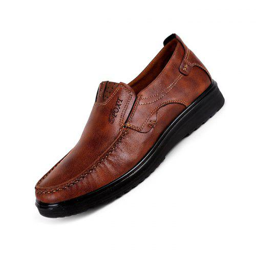 YLY Mens Fashion Oxford Casual Personality Stripe Texture Comfortable Low-top Formal Shoes Driving Shoes