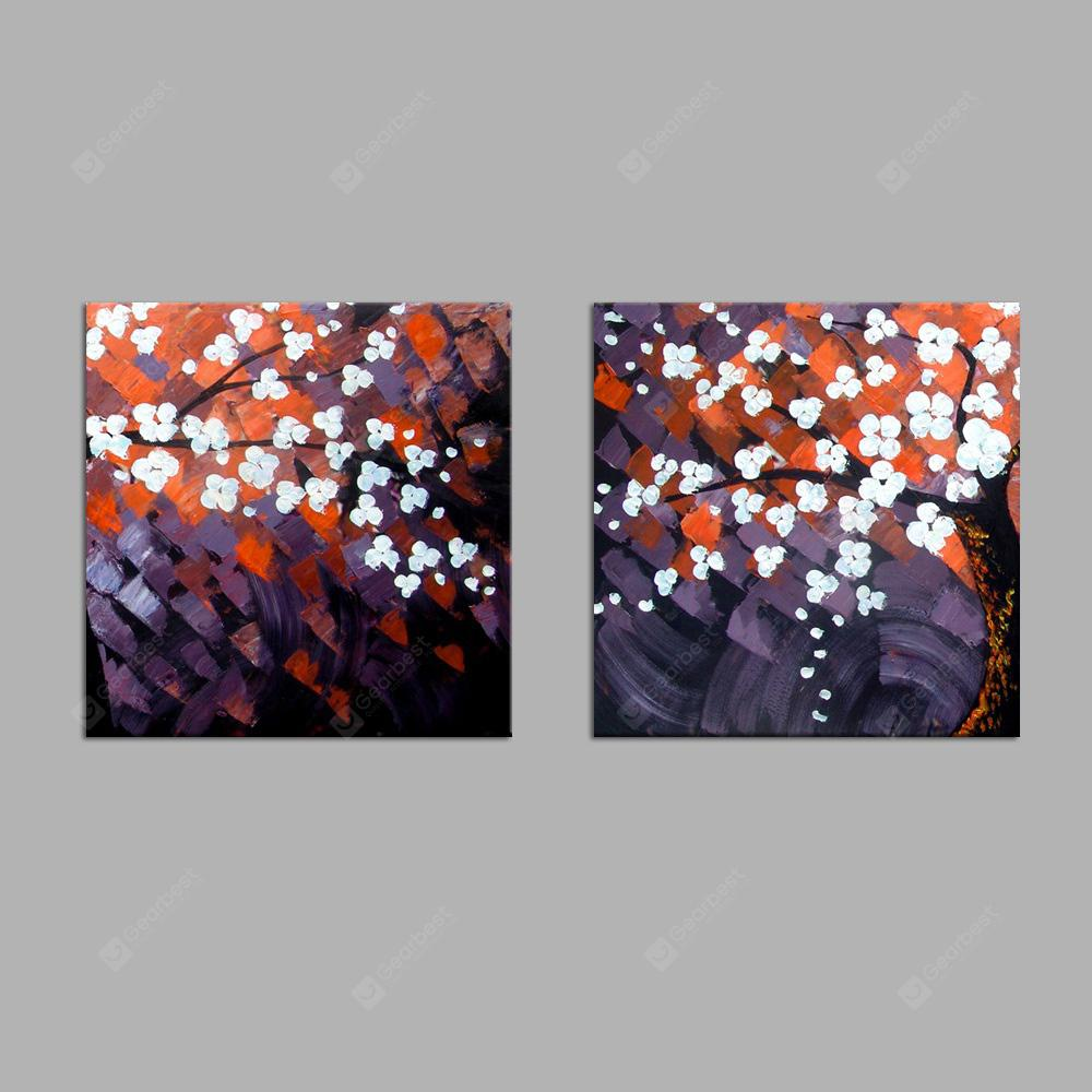 Canvas Modern Plum Blossom Design Print 2pcs