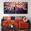 Canvas Modern Plum Blossom Design Print 2pcs - COLORMIX