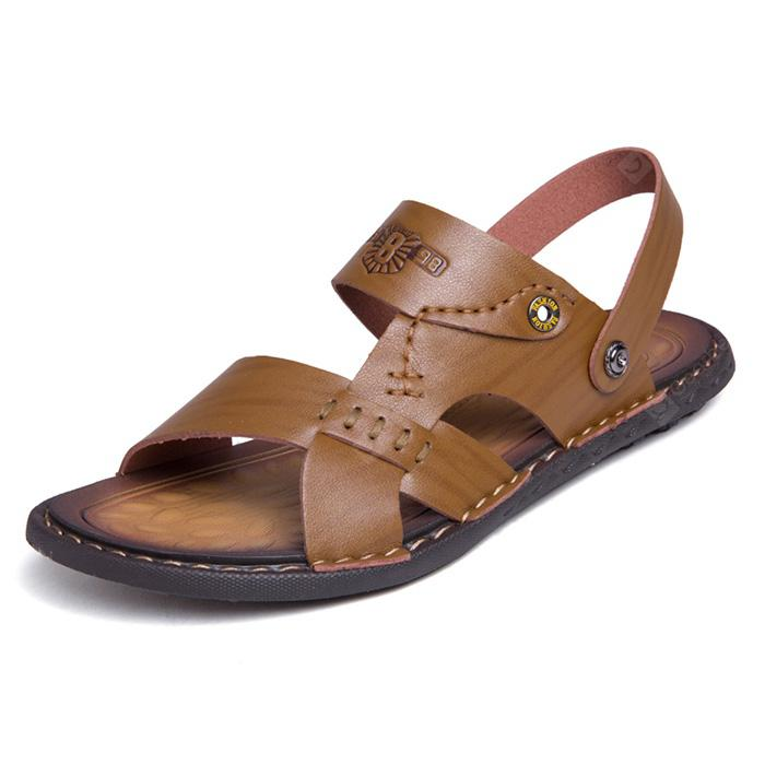 Men Summer Casual Dual-use PU Leather Sandals genuine cheap price shopping online clearance footlocker for sale footlocker sale online largest supplier cheap price S32UXD53U