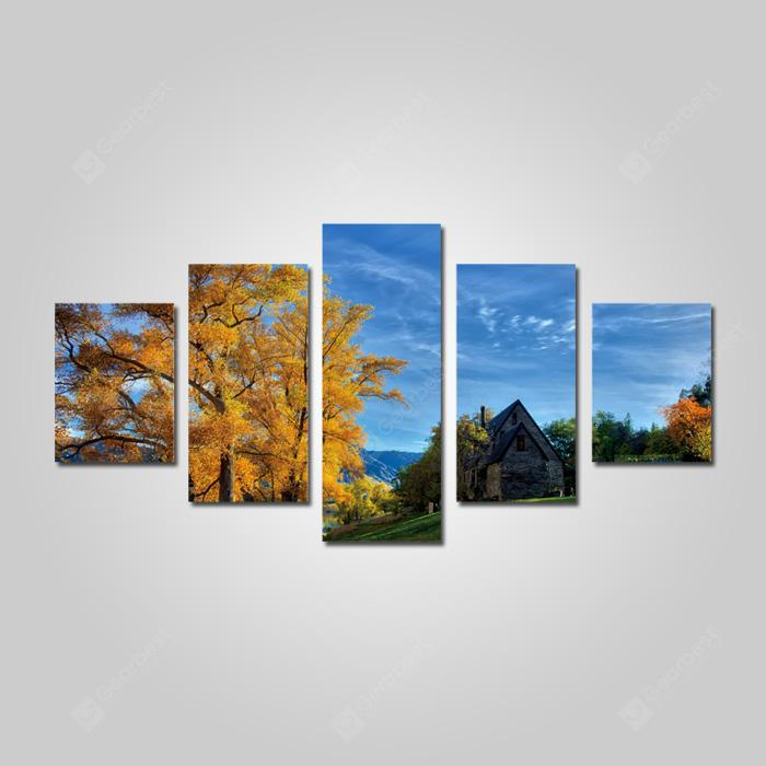God Painting 2202 Village Corner Canvas Print 5PCS