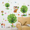 AY7272 Pastoral Tree Wall Sticker - LIME GREEN