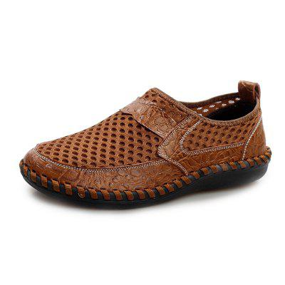 Men Vintage Soft Cool Manual Casual Flat Loafers