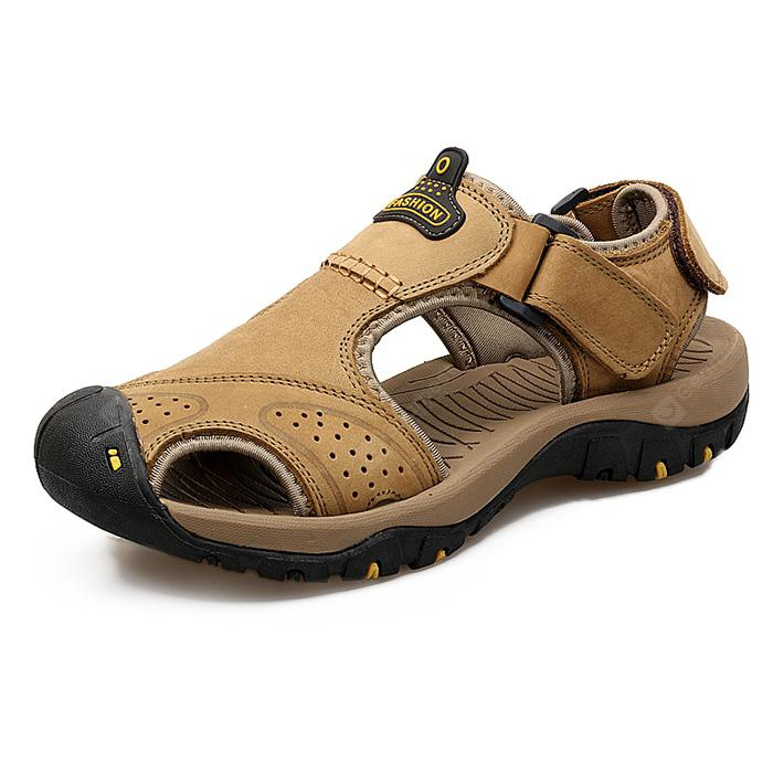 Men Trendy Breathable Anti-slip Leather Sandals