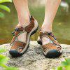 Men Trendy Comfortable Anti-slip Leather Sandals - BROWN