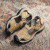 Men Trendy Breathable Anti-slip Leather Sandals - CAMEL BROWN