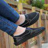 Men Vintage Soft Cool Manual Casual Flat Loafers - BLACK
