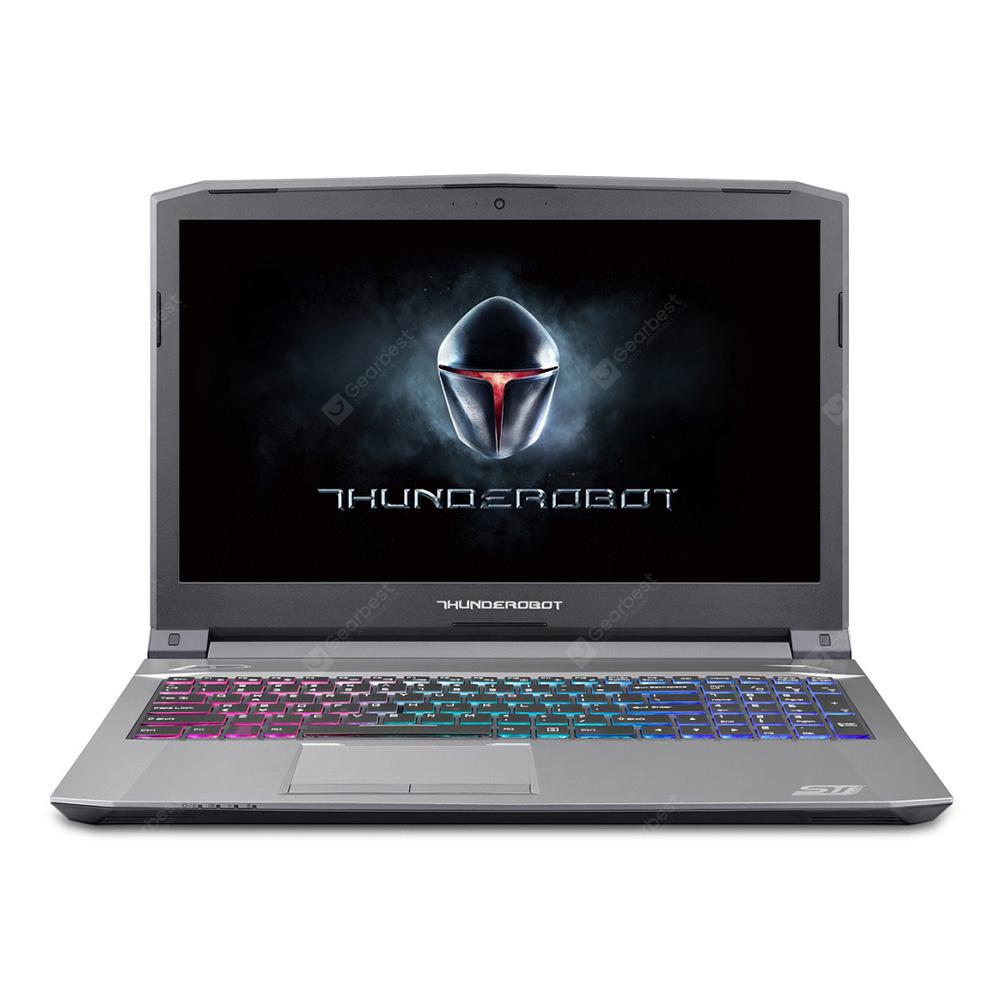 Gearbest ThundeRobot ST Plus Gaming Laptop - SILVER GERMAN KEYBOARD 15.6 inch Intel Core i7-7700HQ NVIDIA GeForce GTX 1050 Ti