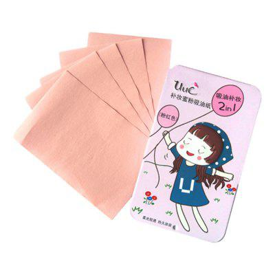 2-in-1 Oil Absorbing Paper Sheet Makeup Refinement 50pcs