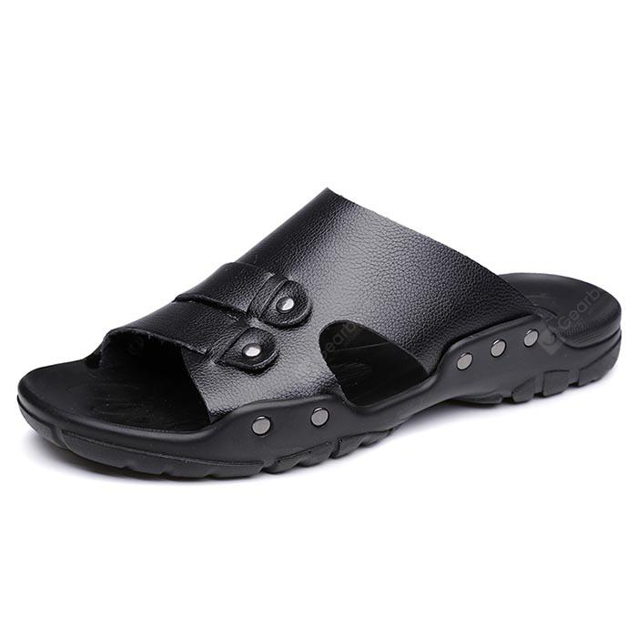 Men British Soft Lightweight Casual Daily Slippers