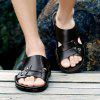 Men British Soft Lightweight Casual Daily Slippers - BLACK