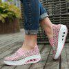 Women Colorful Knitted Heighten Boat Loafers - PINK BUBBLEGUM