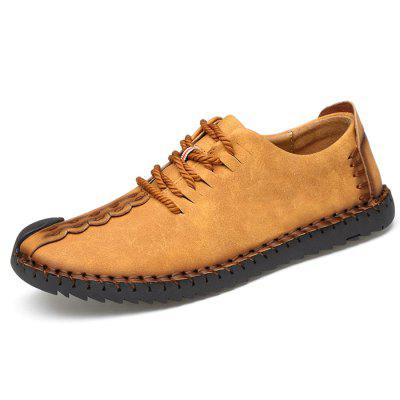Men British Soft Manual Casual Oxford Shoes