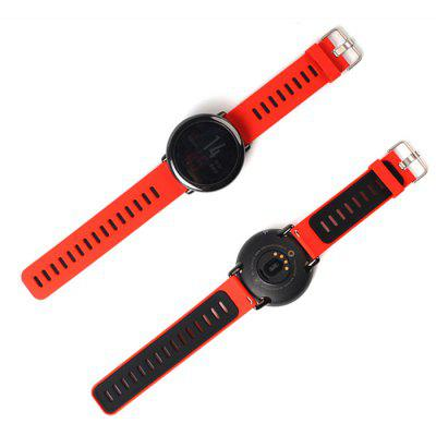 22mm Breathable Silicone Sports Strap Smartwatch Wristband for AMAZFIT