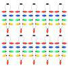 BRELONG 9LED LED Luminous Necklace Holiday Party Christmas 10PCS - LUZ BRANCA