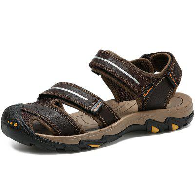 Casual Summer Anti-slip Leather Sandals for Men
