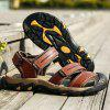 Casual Summer Anti-slip Leather Sandals for Men - CHESTNUT RED