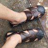 Men Leisure Summer Breathable Anti-slip Leather Sandals - DEEP BROWN