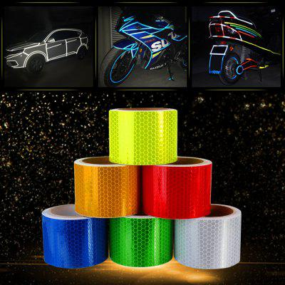 Car Safety Reflective Sticker PVC Warning 3m Tape 1pc yemingduo 25m long self adhesive pvc reflective safety warning tape road traffic construction site reflective arrow mark