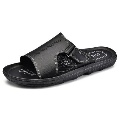 Men Trendy Street Summer Anti-slip PU Slipper