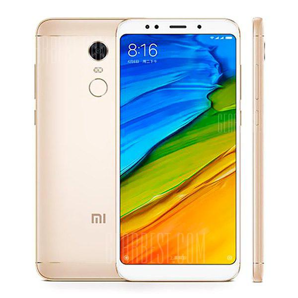Xiaomi Redmi 5 Plus 4G Phablet 3GB RAM Global Version - GOLDEN  3+32GB