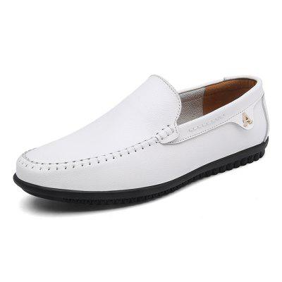Men Trendy Slip-On Chaussures plates en cuir