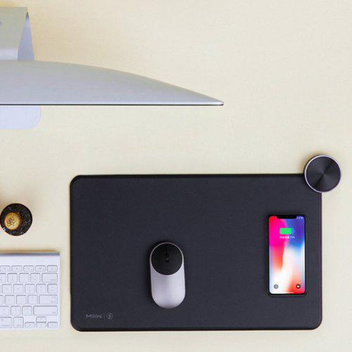 Gearbest MWSP01 Smart Qi Wireless Charging Mouse Pad from Xiaomi Youpin - BLACK