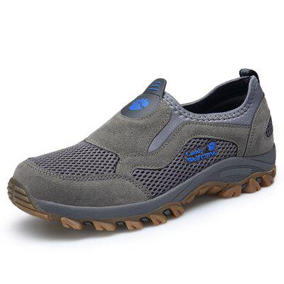 Men Outdoor Breathable Slip-On Hiking Athletic Shoes