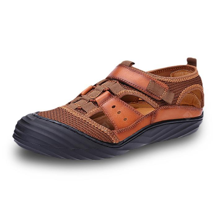 Men Stylish Breathable Slip-on Leather Sandals