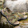 Men Leisure Adjustable Anti-slip Leather Sandals - CAMOUFLAGE GREEN