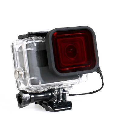 Waterproof Housing Case with Red Filter for GoPro