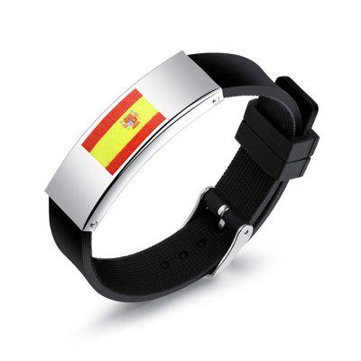 Outdoor World Cup Flag Pattern Sports Bracelet