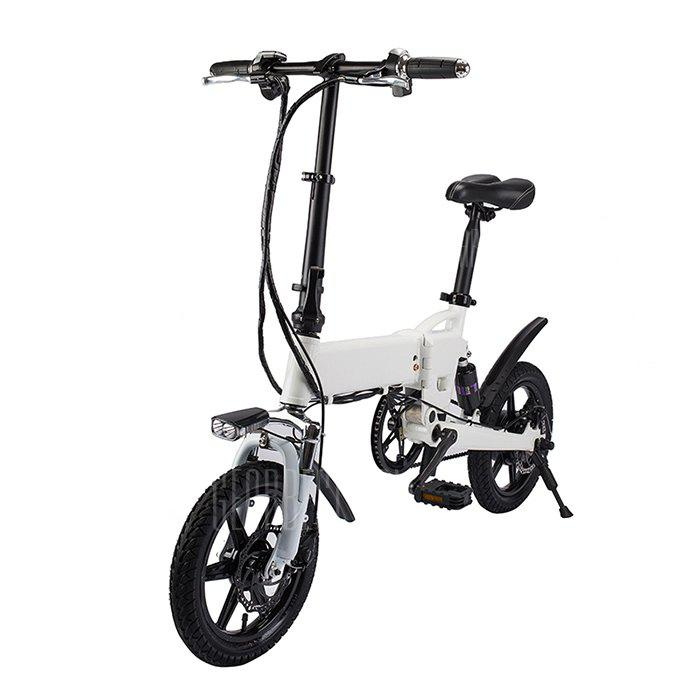 KV1420 Smart Folding Bike Electric Moped Bicycle - WHITE