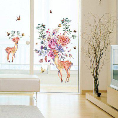 SK9273 Elegáns Sika Deer Design Wall Sticker