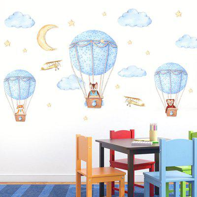 JM7343 Cute Hot-air Balloon Design Wall Sticker