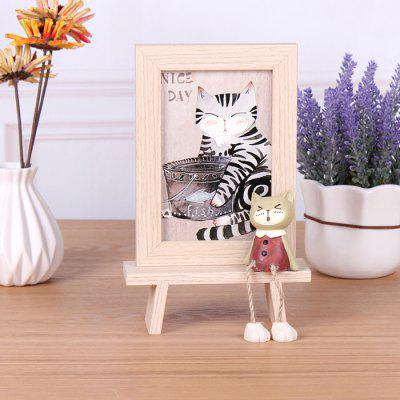 Creative Wooden Cat Photo Frame