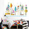 JM7350 Cute Cartoon Design Wall Sticker - MULTI