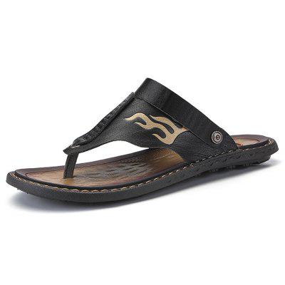 Men Stylish Street Dual-use Microfiber Leather Sandals